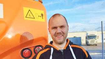Erik Lindmark, ny säljare hos Delvator AB i Västerbotten och Norrbotten.