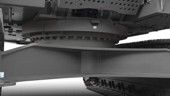Volvo EC380E Straight Boom - skydd undervagn
