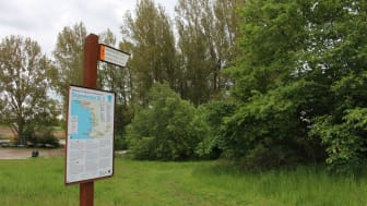 Startplatsen för vandringen som går längs Skåneleden (SL5) är vid Lödde kanotklubb.