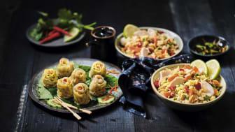 Thai knyten och Nasi goreng med Kyckling