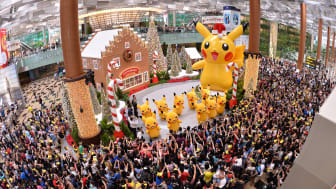 Crowd at the launch of Changi Airport's year-end festivities