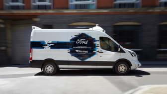 En specialbyggd Ford Transit för den brittiska transportfirman Hermes
