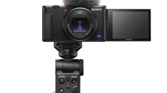 A Sony expande a gama de soluções de vlogging com a apresentação da câmara de vlog ZV-1 e a Handycam® 4K compacta FDR-AX43