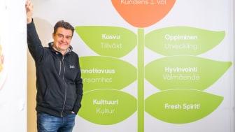 Kasvava Fresh työllistää vuosittain peräti 2500 ihmistä työntekijöistä kumppaneihin, toimitusjohtaja Sami Haapasalmi iloitsee.