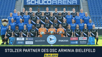 Blåkläder ist offizieller Partner des DSC Arminia Bielefeld