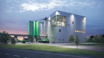 Ragn-Sells bygger ny anläggning för behandling av flygaska med sin patenterade teknik Ash2Salt (Bild från Ragn-Sells)