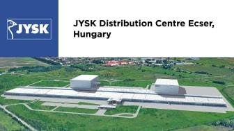 JYSK Distribution Centre Ecser visualisation 1