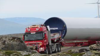 Transport til Hitra 2 vindpark sommeren 2019