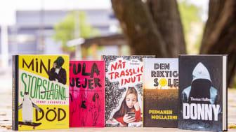 Barnradions bokpris, nominerade böcker 2021. Foto: Haben Solomon/UR.
