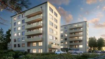 Järntorget produktionsstartar 25 lägenheter  i projektet Vista, Traneberg