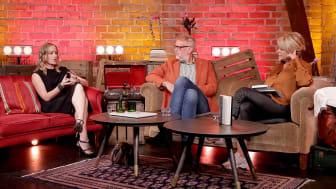 Stina Jackson, Hans Rosenfeldt och Kattis Ahlström i seminariet Att sätta Norrland på spänningskartan / Foto: Karina Ljungdahl.