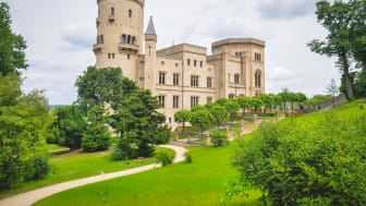 Potsdam: Flatow tårn i Babelsberg Park