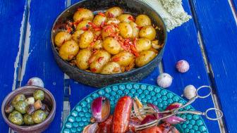 Chorizo med stekt potatis