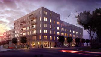 Bikupan i Upplands-Väsby med 113 bostäder är ett av de hyresrättsprojekt som Riksbyggen säljer till Willhem.