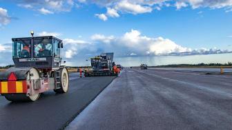 Omtoppning av rullbana Karlstad Airport