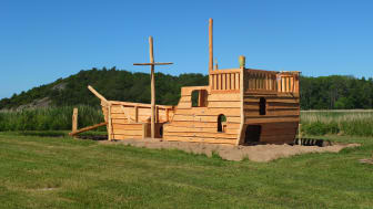 Invigning av slottets lekskepp