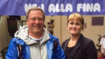 Lennart Rådenmark, Länssamordnare för drogförebyggande arbete på Länsstyrelsen och Jessica Andersson, utvecklingsledare för drogförebyggande arbete inom Göteborgs Stad Social resursförvaltning. Foto: Länsstyrelsen