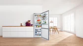 Bosch XXL-design: extra stora kyl/frysar med VitaFresh-hållbarhetssystem