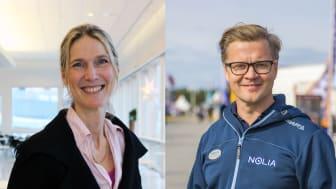 Lotta Frenssen, VD Elmia och Jonas Dalberg, VD Nolia.