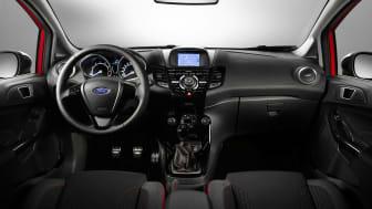Fiesta Red og Black Edition, interiørbilde