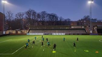 Kvällsträning på Malmö IP