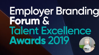 TNG:s VD och AI-roboten Tengai på Employer Branding Forum & Talent Excellence Awards 2019
