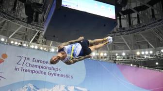 EM-brons i lagfinalen i DMT och Lina Sjöberg till semifinal i trampolin