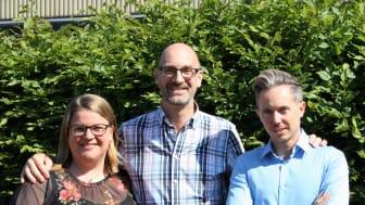 Erika Edlund, Rolf Andersson och Mikael Emanuelsson