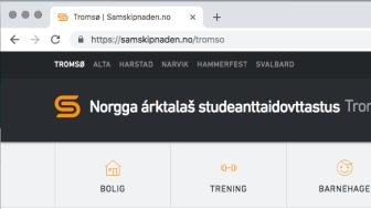 Samisk navn på nettsiden