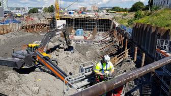 Grunnforholdene er krevende og arkeologiske skatter skal ikke skades under arbeidet med ny Follobane inn mot Oslo S.