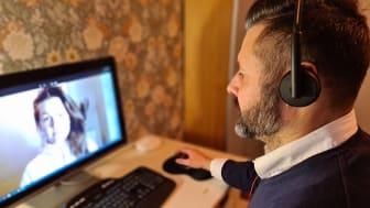Patrik Hast, vd för Pratamera ab, erbjuder e-hälsovård för psykisk ohälsa och under pandemin har det accelererat. Patrik får affärsutvecklingssstöd genom Dalarna Science Park