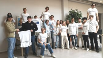 Juniorambassadörerna för EU på Uddevalla gymnasieskola är några av de elever som får delta i frågestunden med EU-politikerna.