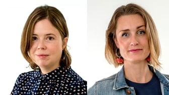 Zandra Zernell och Elin Sundin är ny forskningsredaktör respektive pressekreterare på Astma- och Allergiförbundet.