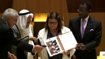 Al Sumait Prize Awards Ceremony African Arab Summit Malabo 2016 Non VO clips