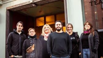 Teater 23 får Region Skånes kulturpalett 2018. Gruppen består av 13 medlemmar och tre anställda. På bilden från vänster: Björn Löfgren, Désirée Holmberg, Gunilla Andersson, Mario Castro Sepulveda, Iben West, Helena Cedrins. Foto: Mic