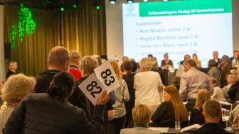 Vid Kennelfullmäktige 2019 användes röstsedlar vid valen men i år testas det digitala röstningssystemet VoteIT. Foto: Måns Engelbrektsson