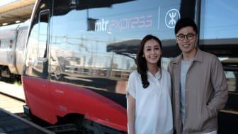Hongkong-profilerna Yi Hing Ong och Scarlett Wong.
