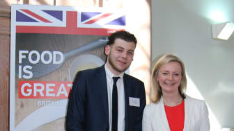 Matthew together with Elizabeth Truss, Secretary of State for Environment, Food and Rural Affairs.