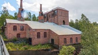 Årets Industriminne 2020. Den stora järnhyttan i Jädraås har dubbla masugnar och rostugnar. Den var i drift mellan 1856 och 1930.
