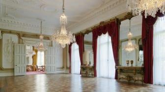 En av Dicksonska Palatsets välbevarade festsalar. Foto: Higab/Bert Leandersson