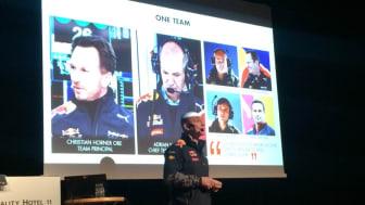 Al Peasland, Head of Technical Partnerships Redbull Racing, använder NX.