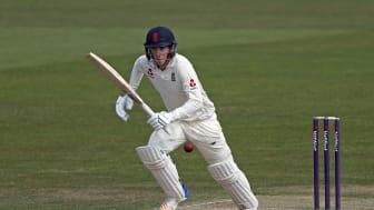 Dan Lawrence scored 190 off 194 balls against CA XI in Hobart (Getty Sports)