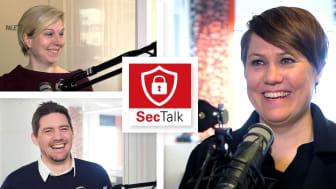 I første SecTalk-episode deltar Trude Talberg-Furulund, seniorrådgiver i NorSIS, og Hans Marius Tessem, seniorrådgiver i NorSIS og leder for Slettmeg.no. Anne-Cathrine Sandø (t.h.), direktør for marked og kommunikasjon i Kiwa, leder samtalen.