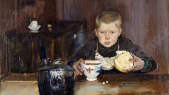 Christian Krohg – Springpojke dricker kaffe, 1885. Foto: Hossein Sehatlou