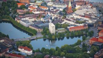 Kiel: Panorama der Innenstadt © Kiel Marketing e.V.  F: Oliver Franke