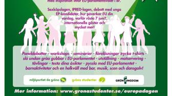 UNG EUROPADAG: Framtidens EU redan idag - debatter och fest på Stockholms universitet 9/5