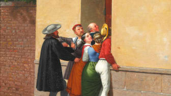 "C.W. Eckersberg ""Trængsel i en Dør"" (1844). Vurdering: 600.000-800.000 kr."