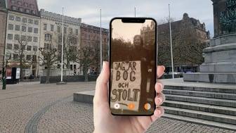 """Bild från appen """"Be here then"""" som bjuder på digital stadsvandring med queerhistoria."""