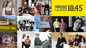 Årets Formbärare 2021 - korade av Svensk Forms regionalföreningar den 6 oktober 2021