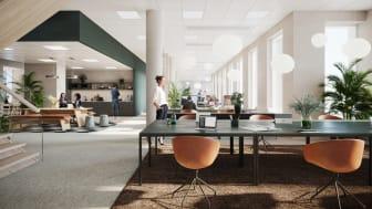 Kvartetten blir ett omtänksamt kontorshus med fokus på människorna.